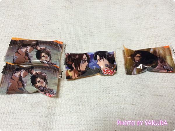 UHA味覚糖ぷっちょ×進撃の巨人「兵長の愛のオレンジ味」兵長の個包装