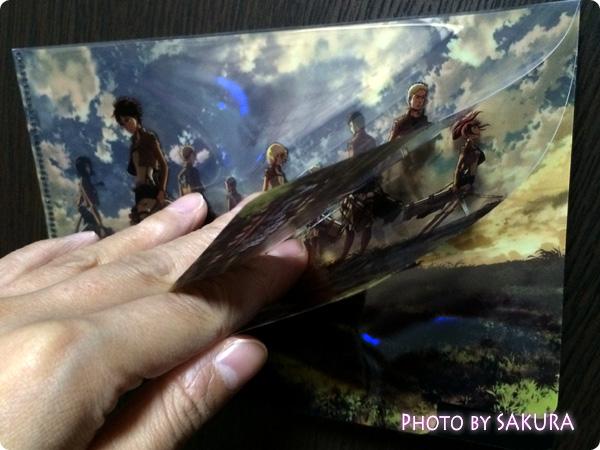 劇場版「進撃の巨人」前編~紅蓮の弓矢~ 第1弾 特典付前売券 クリアファイルは3層に別れてる!