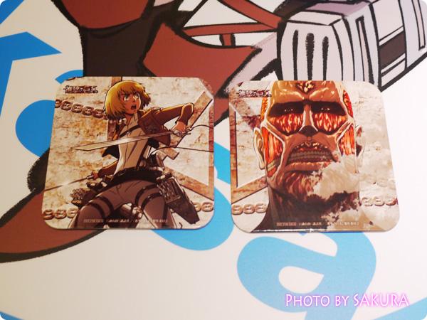 劇場版「進撃の巨人」前編~紅蓮の弓矢~公開記念 新宿バルト9限定『進撃の巨人カフェ』 オリジナルコースター 超大型巨人・アルミン