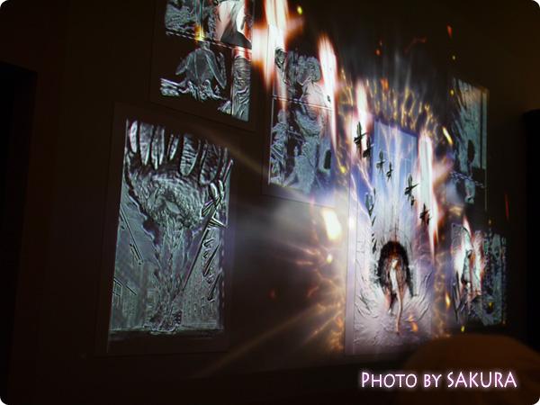 進撃の巨人展 2F展示エリア 大岩で壁の穴をふさぐ