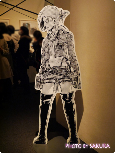 進撃の巨人展 2F展示エリア 等身大アニパネル