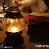 進撃の巨人展 1F描き下ろし展示エリア 趣のあるランプ