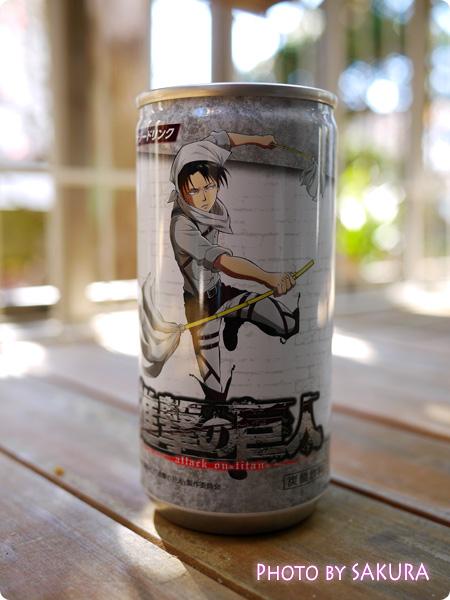 セブン-イレブン×進撃の巨人 コラボ オリジナルドリンク缶(伊藤園) エナジードリンク リヴァイ