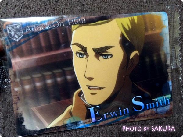 セブン-イレブン×進撃の巨人 ウエハース 特典カード エルヴィン・スミス表