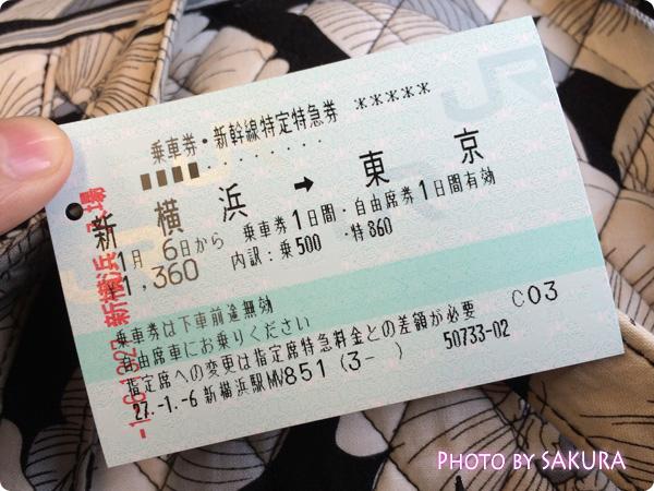 キスマイ新春イベント2015『Kis-My-福袋』横浜アリーナ 新幹線 新横浜-東京