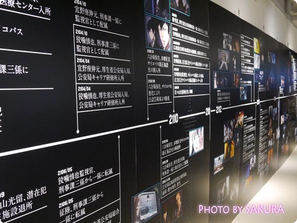 サイコパス×タワーレコード渋谷店 特別展示『GINNOCENT WORLD―宜野座伸元の世界―』 年表展示