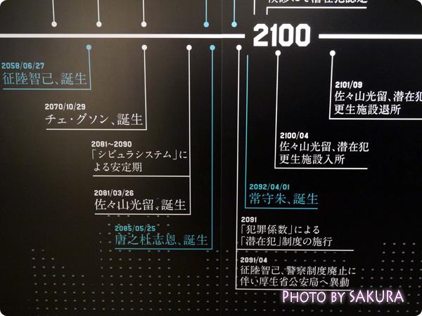 サイコパス×タワーレコード渋谷店 特別展示『GINNOCENT WORLD―宜野座伸元の世界―』 年表展示アップ2