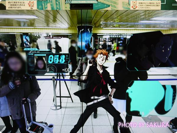 PSYCHO-PASS サイコパス×新宿メトロプロムナード シビュラシステム キャラクターが登場! 縢くんが出てきた