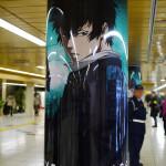 サイコパス×新宿メトロプロムナードのシビュラゾーンの柱のラッピング広告紹介