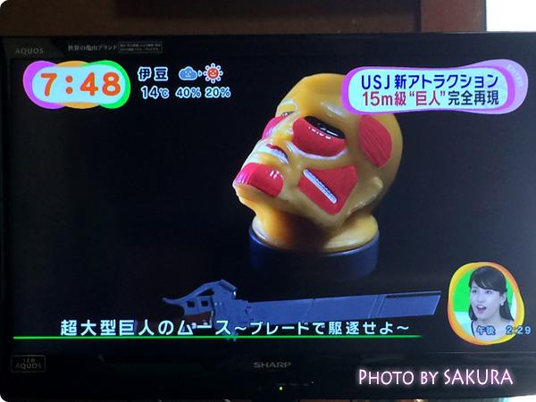 USJ 進撃の巨人・ザ・リアル 食糧庫 『超大型巨人ムース~ブレードで駆逐せよ~』
