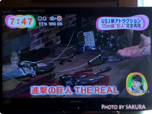 USJ 進撃の巨人・ザ・リアル 『女型の巨人 捕獲作戦〜ウォークスルー・アトラクション〜』前の小物展示