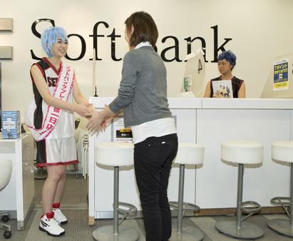 黒子のバスケ×ソフトバンクコラボ 1日店長 おきゃくさんと握手