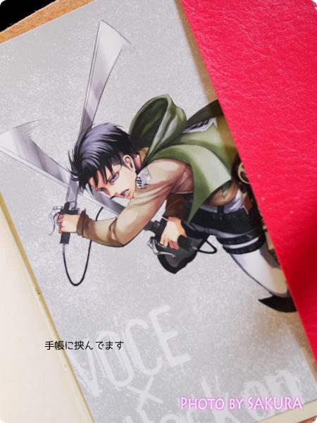 進撃の巨人×VOCE(ヴォーチェ) リヴァイ兵長ポストカード ほぼ日手帳に挟んでます