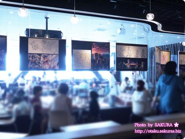 進撃の巨人×東京ジョイポリス フレームカフェ 店内の展示