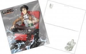 劇場版「進撃の巨人」後編~ 自由の翼~ 4D版 リヴァイ描き下ろしイラスト入りポストカード(132×150mm)