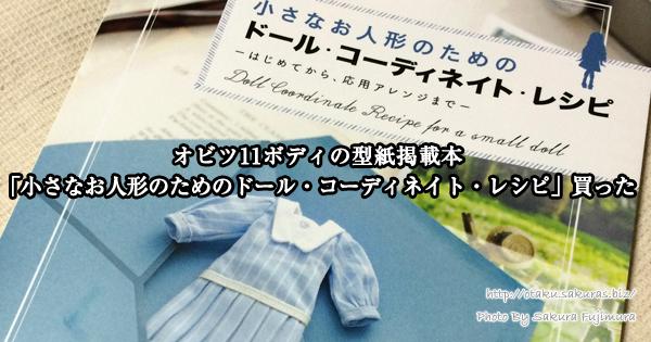 「小さなお人形のためのドール・コーディネイト・レシピ」服の作り方や型紙の本感想