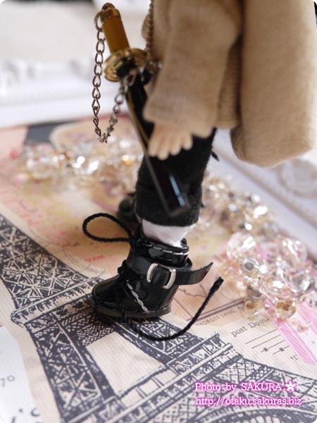 パラボックス MIMIWOO(香港)製 バックル付編上げブーツ 黒 内径18mm 着画