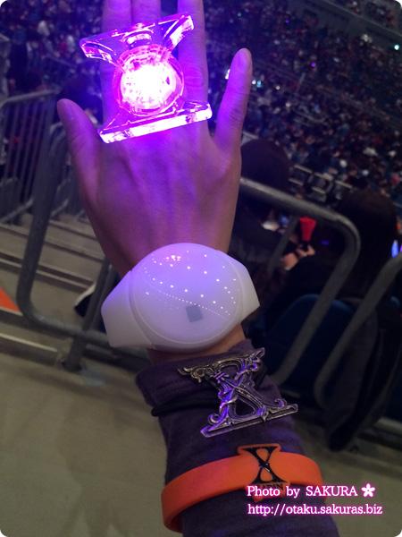 X JAPAN WORLD TOUR 2015-2016 IN JAPAN 横浜アリーナ 12/3  会場の証明と連動する内蔵されたLEDが発光するリストバンド ザイロバンド的なもの