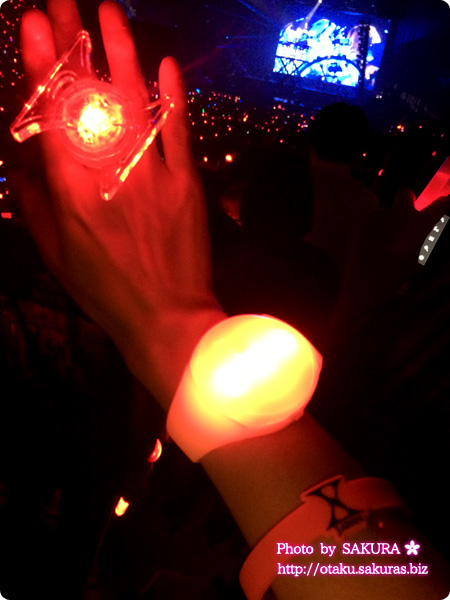 X JAPAN WORLD TOUR 2015-2016 IN JAPAN 横浜アリーナ 12/3  紅で光るザイロバンド(リストバンド)