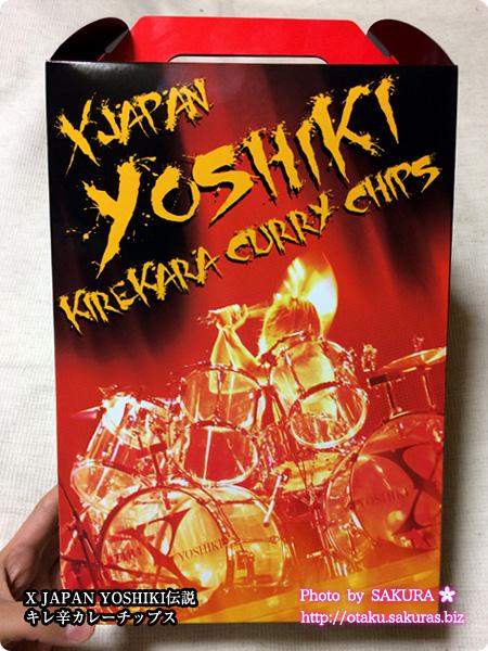 X JAPAN WORLD TOUR 2015-2016 IN JAPANのツアーグッズ X JAPAN YOSHIKI伝説 キレ辛カレーチップス パッケージ