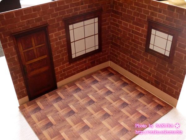 キャンドゥ ウッドクラフト用背景ボード リビング外壁/煉瓦 パターン3