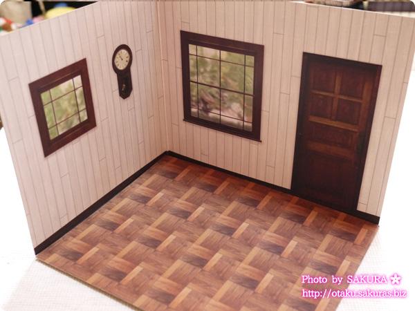 キャンドゥ ウッドクラフト用背景ボード リビング外壁/煉瓦 パターン2