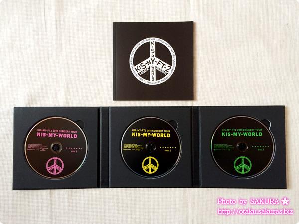 キスマイ「2015 CONCERT TOUR KIS-MY-WORLD(Blu-ray3枚組)」 初回仕様のスペシャルパッケージ仕様 全部開いたところ