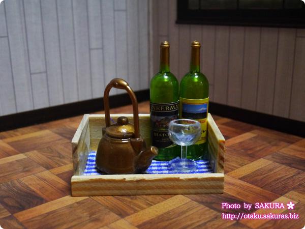 キャンドゥで買ったワインのマグネット お盆付き