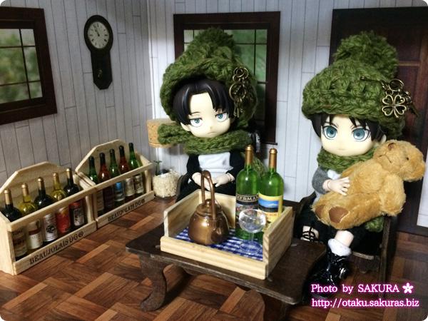 キャンドゥの木箱入りワイン5本のマグネット