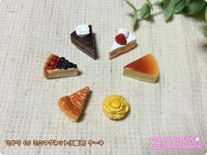 ミドリ OJ ミニマグネット(6個入) ケーキ ミニチュアケーキ6個セット
