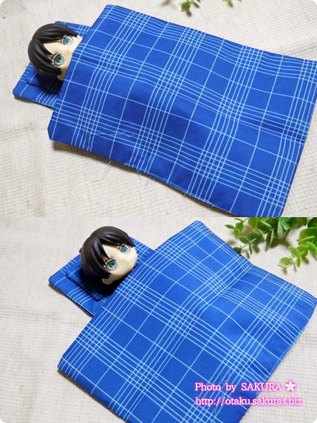 キャンドゥ ミニチュアセット『布団セット』とオビツろいど(オビツ11ボディ) 掛け布団の向きサイズ感