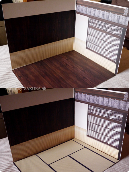 Can☆Do(キャンドゥ)のウッドクラフト用背景ボード「和室 坪庭」 パターン2