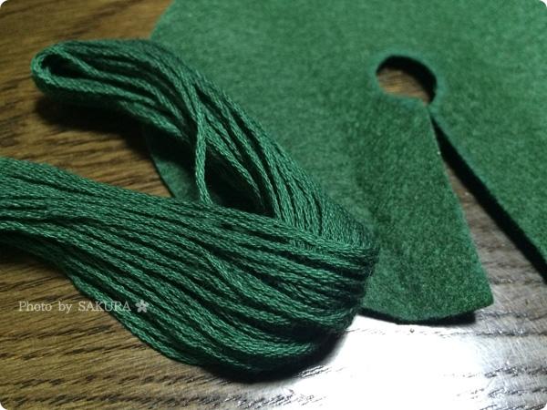 ダイソーオリジナルの刺繍糸が兵団カラーで使いやすい