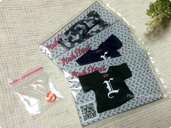 Pink Float ぷりりん様からアルファベット半袖Tシャツ2枚とおずぼーんストレッチ購入(おまけあり)