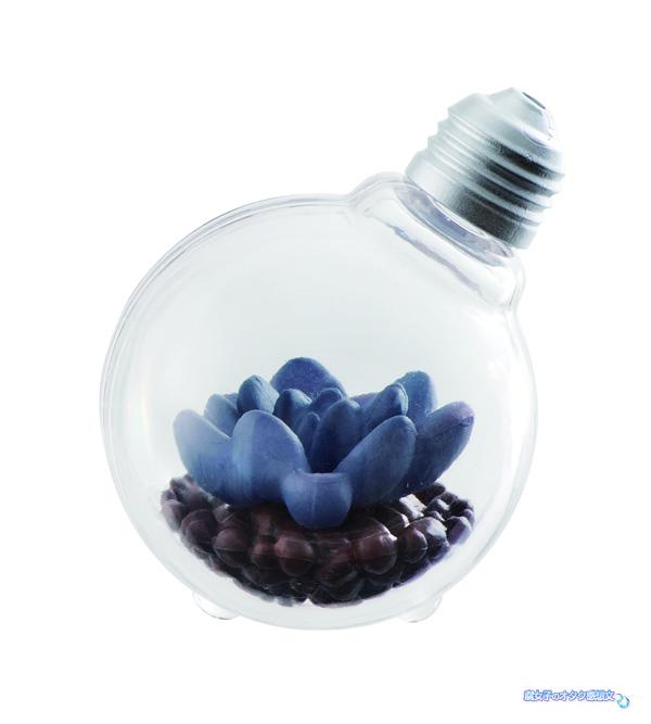 バンダイのガシャポン(ガチャガチャ)「豆電球テラリウム」全4種類 フーケリー