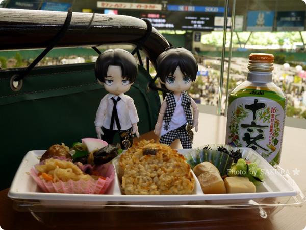 国際バラとガーデニングショウ お昼ご飯はお弁当とお茶