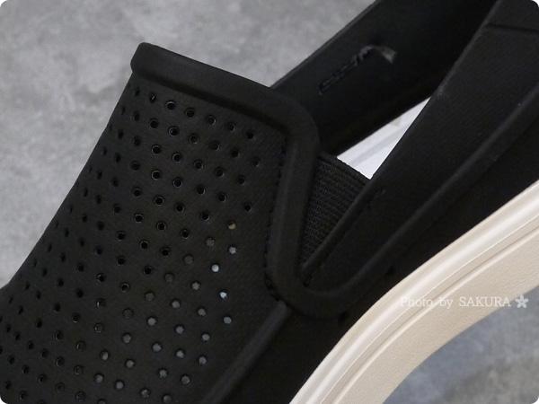 crocs クロックス citilane röka slip-on men(シティレーン ロカ スリップオン メン)  メッシュ使用のTPU素材、サイドにゴムのスリット入り