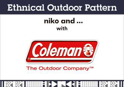 niko and ... (ニコアンド)×Coleman(コールマン)アウトドア用品コラボ 幾何学柄×アステカ柄