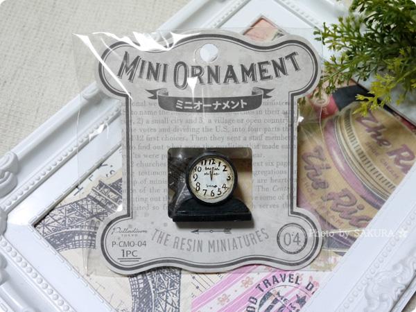 キャンドゥのミニチュア「ミニオーナメント」シリーズ 置時計
