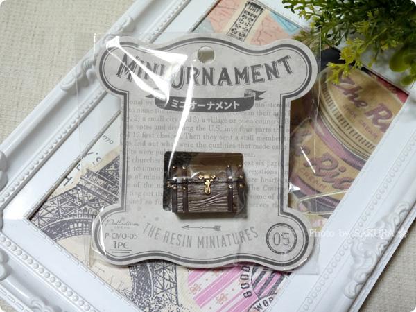 キャンドゥのミニチュア「ミニオーナメント」シリーズ 宝箱