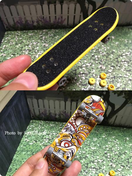 「フィンガースケートボード」スケボー部分アップ