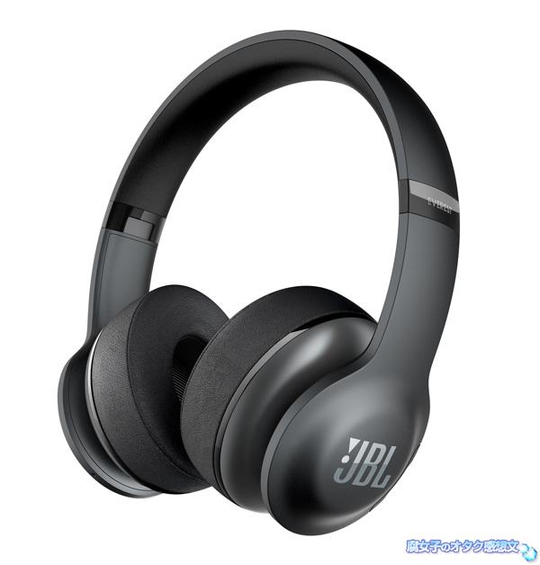 JBLのBluetooth対応型、高音質ヘッドホン 「EVEREST300」 ブラック