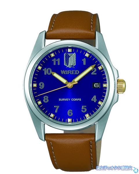 WIRED(ワイアード)×進撃の巨人コラボ腕時計 AGAK701 エレンシグネチャーモデル 全体