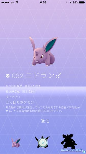 【ポケモンGO】世田谷公園 ニドラン♂