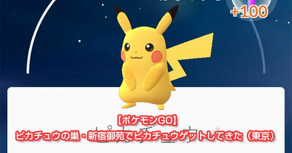 【ポケモンGO】ピカチュウの巣・新宿御苑でピカチュウゲットしてきた(東京)