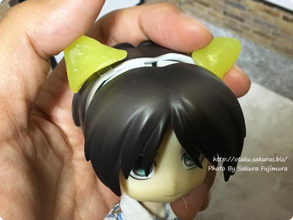 ねんどろヘッド用手作り簡単猫耳の装着方法 その1
