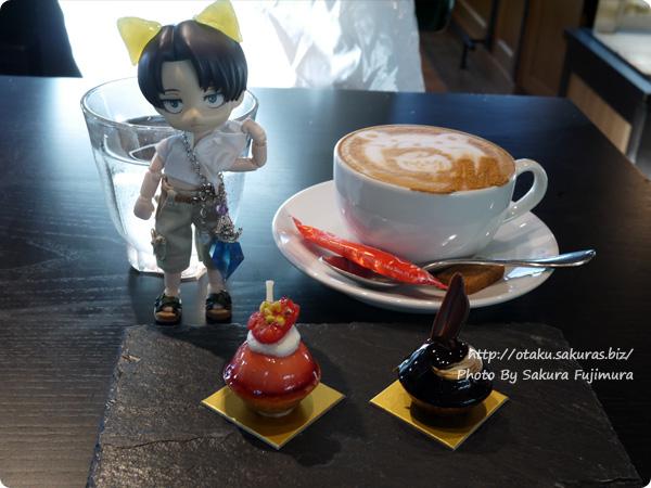二子玉川カフェ&バー Mallorca(マヨルカ) オビツろいど(オビツ11)リヴァイ(ねんどろいどヘッド)