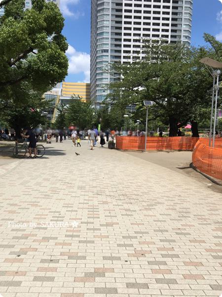 ポケモンGO 錦糸公園のポケストップ リアル画面