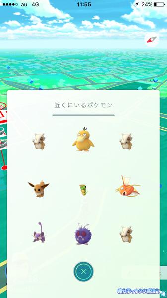 清水公園でポケモンGO カラカラ表示が増えた!