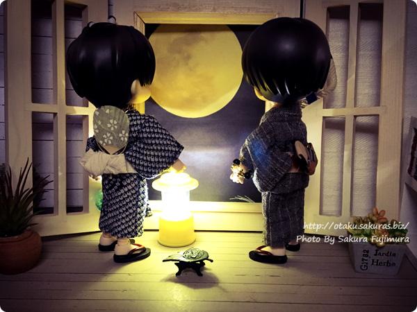 オビツろいど(オビツ11)中秋の名月のお月見 後ろ姿